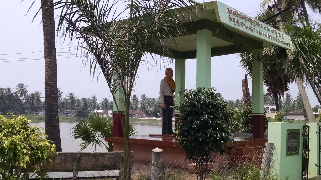 A statue of my grandfather in Mogallu village, where he was born.
